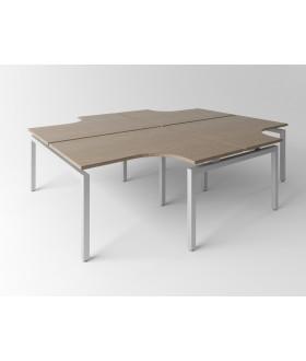 Psací stůl Evropa 279x243 cm - pro 4 pracovní místa
