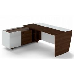 Rohový psací stůl TRIVEX -  200x180 cm - dub Charleston/bílá - levý