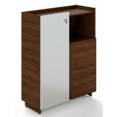 Kancelářská skříň TRIVEX - dub Charleston/bílá - výška 134 cm