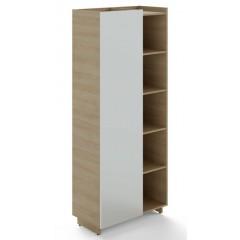 Policová skříň TRIVEX kombinovaná pravá - dub pískkový/bílá - výška 213 cm