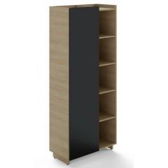 Policová skříň TRIVEX kombinovaná pravá - dub pískový/černá - výška 213 cm