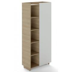 Policová skříň TRIVEX kombinovaná levá - dub pískkový/bílá - výška 213 cm