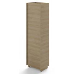 Policová skříň TRIVEX levá - dub pískový- výška 213 cm