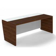 Kancelářský psací stůl TRIVEX -  200x90 cm - dub Charleston/bílá