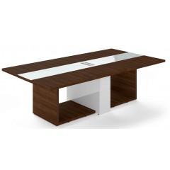 Jednací stůl TRIVEX -  260x140 cm - dub Charleston/bílá