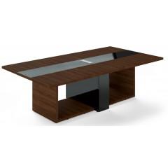 Jednací stůl TRIVEX -  260x140 cm - dub Charleston/černá