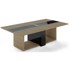 Jednací stůl TRIVEX -  260x140 cm - dub pískový/černá