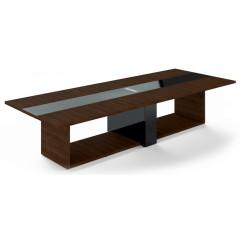 Jednací stůl TRIVEX -  360x140 cm - dub Charleston/černá