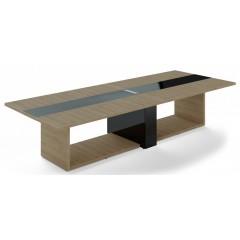 Jednací stůl TRIVEX -  360x140 cm - dub pískový/černá