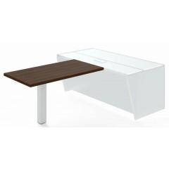 Jednací přístavba stolu TRIVEX -  138 cm  - dub Charleston/bílá