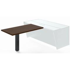 Jednací přístavba stolu TRIVEX -  138 cm  - dub Charleston/černá