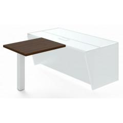 Jednací přístavba stolu TRIVEX -  90 cm  - dub Charleston/bílá
