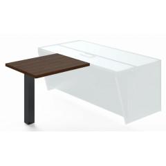 Jednací přístavba stolu TRIVEX -  90 cm  - dub Charleston/černá