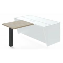 Jednací přístavba stolu TRIVEX -  90 cm  - dub pískový/černá
