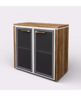 Kancelářská skříň WELS 79,8x42,5x80 cm  - prosklená