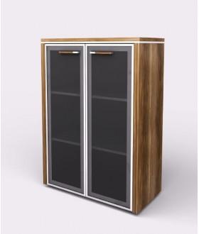 Kancelářská skříň WELS 79,8x42,5x119,5 cm - prosklená - 104813