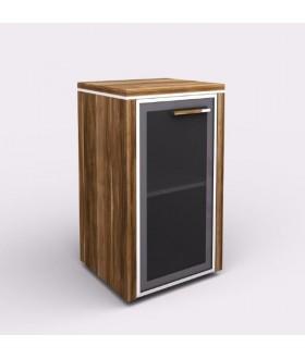 Kancelářská skříň WELS 42,5x39,9x80 cm  - prosklená - levá