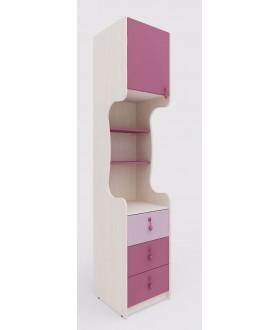 Dětská skříňka MIA 144.108 - výška 210cm - levá