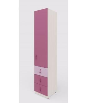 Dětská  skříň MIA 144.102 - výška 210cm - pravá
