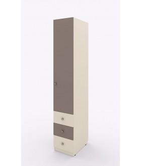 Jednokřídlá skříň Siluet s ramínkovou tyčí a zásuvkami - pravá  264.105
