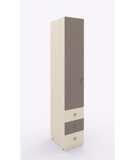 Jednokřídlá skříň Siluet s ramínkovou tyčí a zásuvkami - levá  264.105
