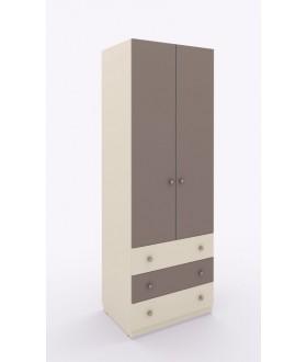 Skříň šatní Siluet široká se zásuvkami - výška 235,6 cm