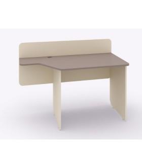 Psací stůl Siluet se zadní deskou pravý 130x61,8 cm