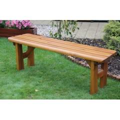 Dřevěná zahradní lavice FINLAND bez opěradla
