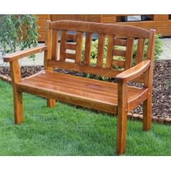 Dřevěná zahradní lavice GOLDEN - 2 osoby