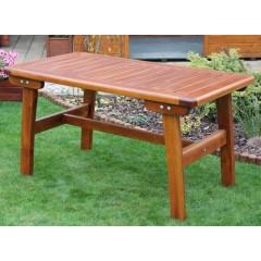 Dřevěný zahradní stůl GOLDEN - 137 cm