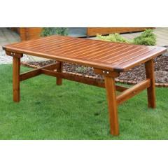Dřevěný zahradní stůl GOLDEN - 162 cm