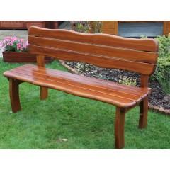 Dřevěná zahradní lavice LORETA  s opěradlem