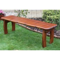 Dřevěná zahradní lavice LORETA  bez opěradla