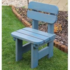 Dětská zahradní dřevěná židle