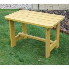 Dětský dřevěný zahradní stůl