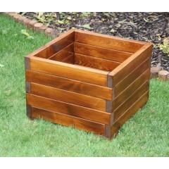 Dřevěný zahradní květináč střední - 45x45 cm