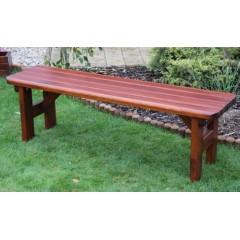 Dřevěná zahradní lavice ROVNÁ bez opěradla