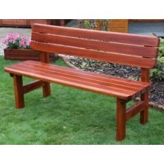 Dřevěná zahradní lavice ROVNÁ s opěradlem