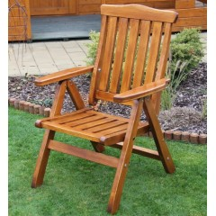 Polohovací dřevěné zahradní křeslo RALEN