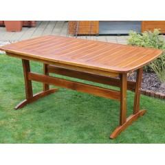 Dřevěný zahradní stůl RALEN malý - 152 cm