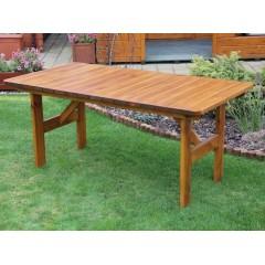 Dřevěný zahradní stůl SIVELA - 152 cm
