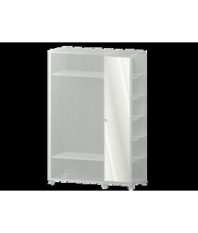 Dveře se zrcadlem v hliníkovém rámu  556.331