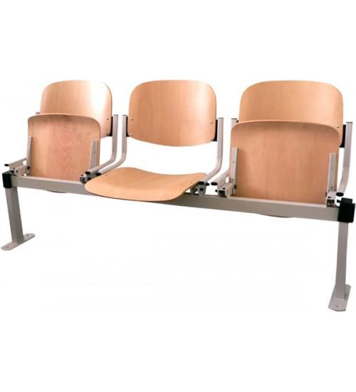 Dřevěná lavice OMP3 3-sedák sklopný