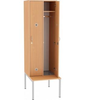 Šatní skříň dvoudveřová s lavickou SF05