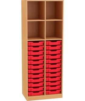 Skříň NOVA otevřená s plastovými bosy 5OH - SD07 výška 183 cm