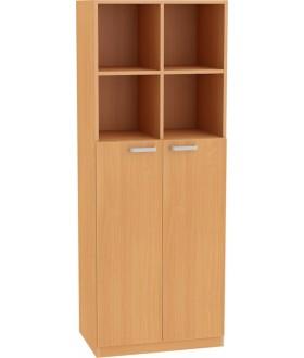 Skříň NOVA s dveřmi středními a mezistěnou 5OH - SD23 výška 183 cm