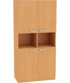 Skříň NOVA s dveřmi a nikou a mezistěnou 5OH - SD29