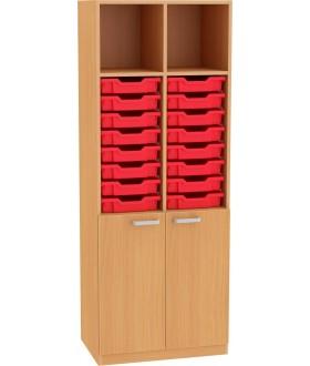 Skříň NOVA s dveřmi a plastovými boxy 5OH - SD30