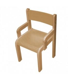 Dětská židle buková s područkami Z80P