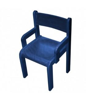 Dětská židle buková s područkami  Z80PM - mořená